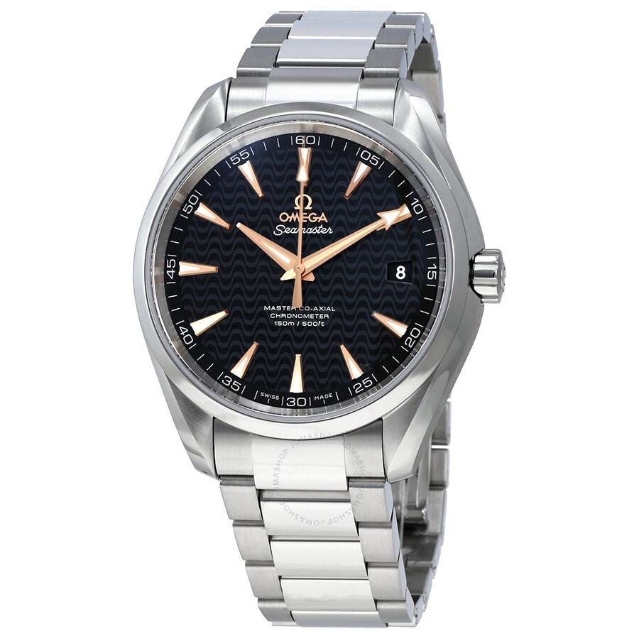 Omega Seamaster Aqua Terra Automatic Black Dial Mens Watch 23110422101006
