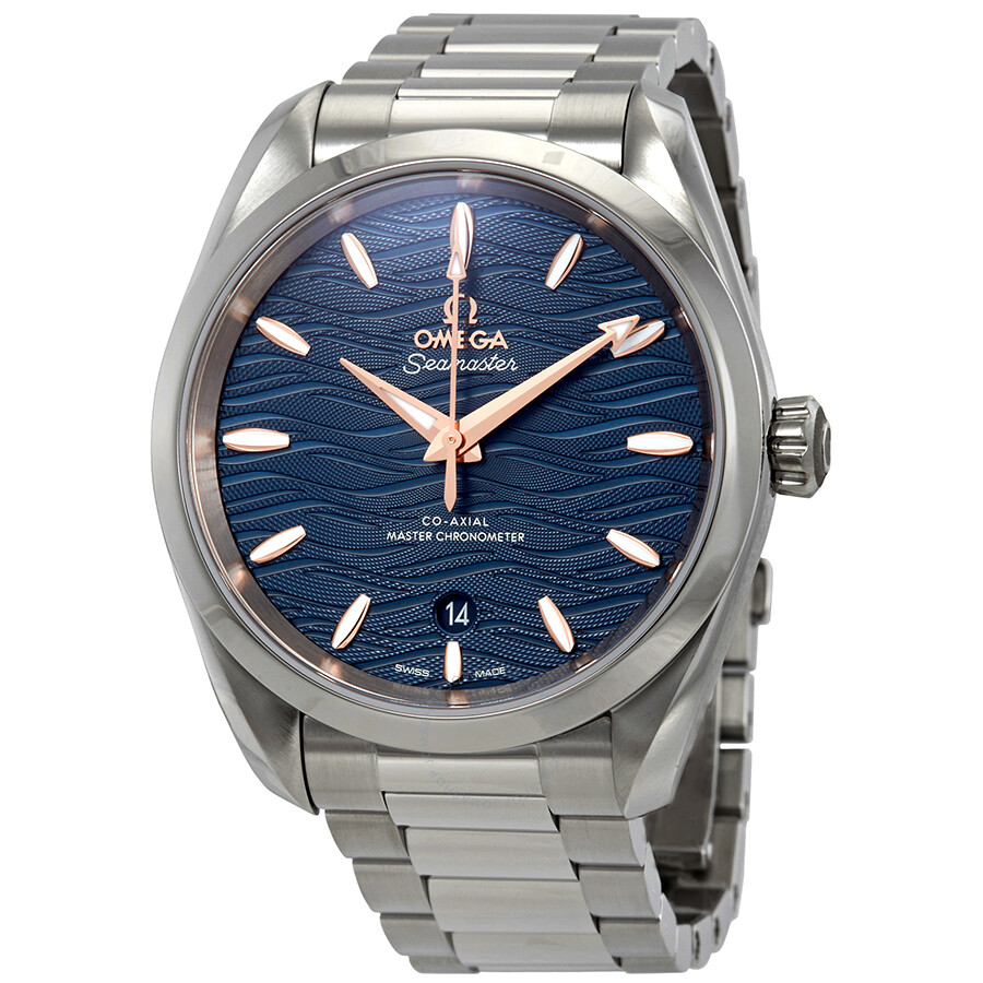 Omega Seamaster Aqua Terra Co-Axial Master Chronometer Automatic Blue Dial Mens Watch 220.