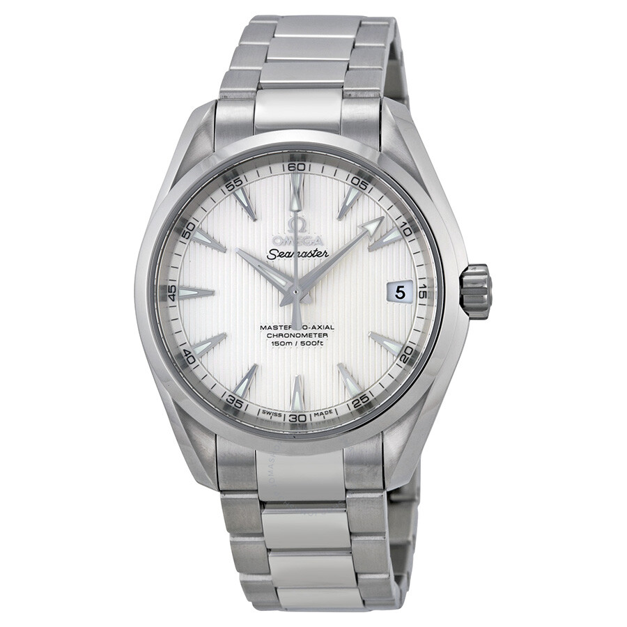 Omega seamaster aqua terra silver dial men 39 s watch 23110392102002 seamaster aqua terra omega for Omega watch seamaster