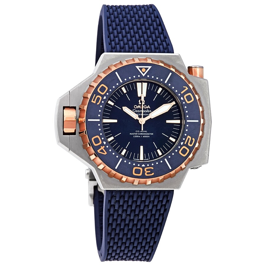 Omega Seamaster Automatic Blue Lacquered Dial Mens Watch 227.60.55.21.03.001
