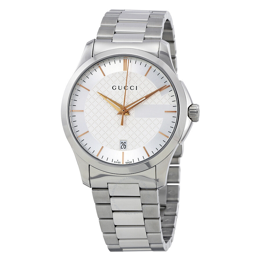 Open Box - Gucci G-Timeless Silver Dial Stainless Steel Unisex Watch YA126442