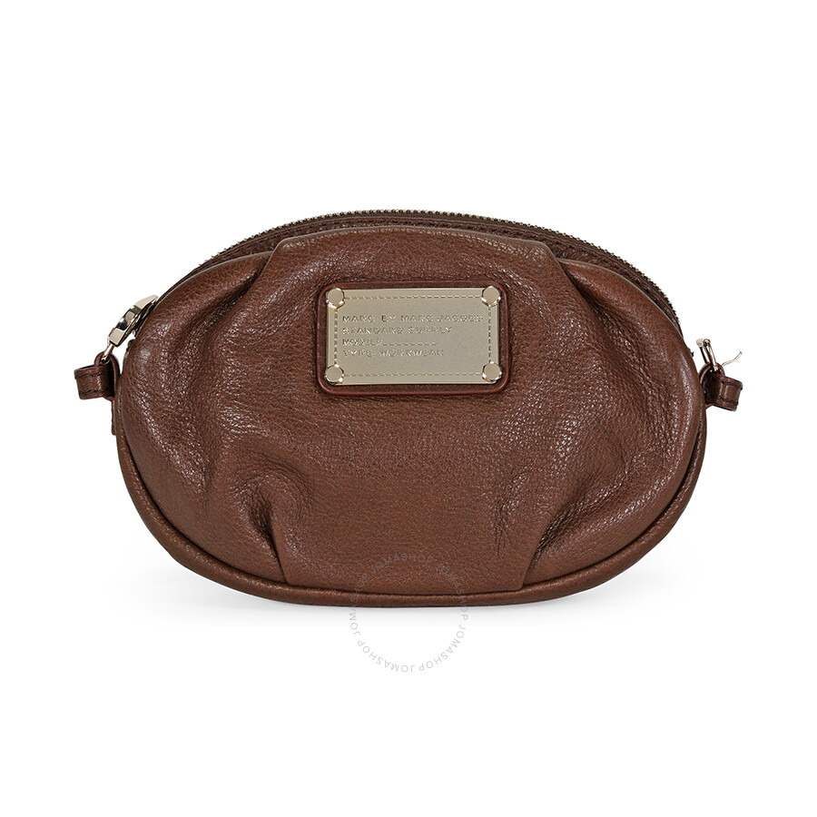 Open Box - Marc By Marc Jacobs Brown Leather Clutch M301010 at Jomashop.com & JomaDeals.com