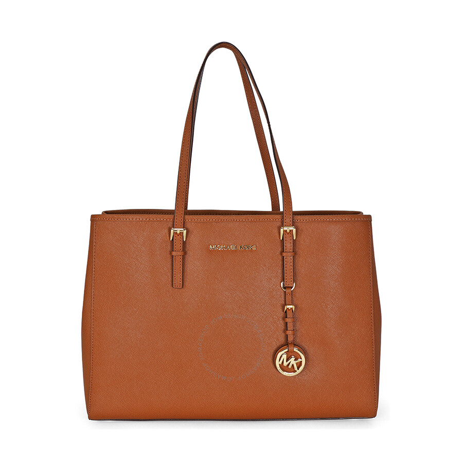 Open Box - Michael Kors Jet Set Travel Tote Large Tote in Luggage - Tan