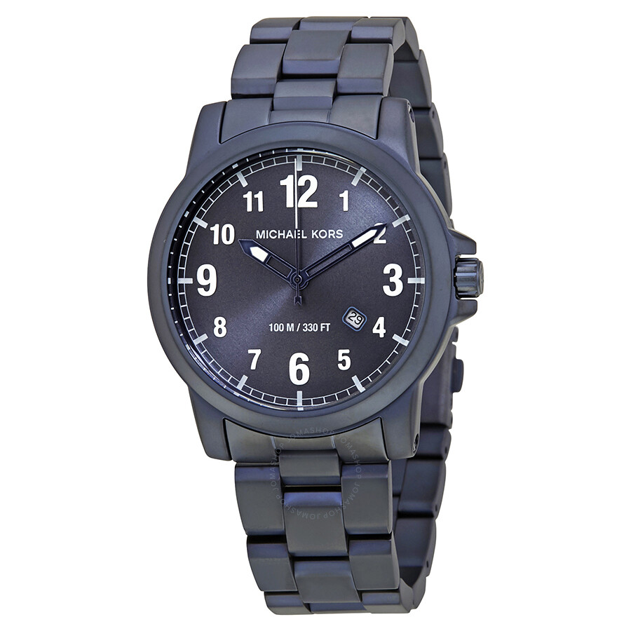 Open Box - Michael Kors Paxton Navy Blue Dial Mens Watch MK8533