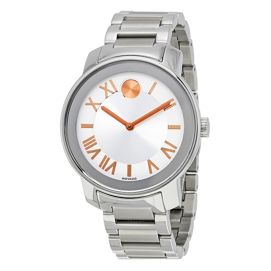 Open Box - Movado Bold Silver Dial Stainless Steel Unisex Watch 3600196