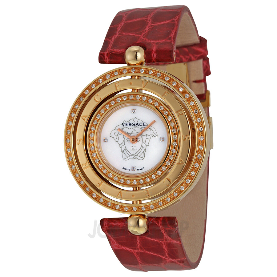 Open Box - Versace Eon Diamond and Ruby Ladies Watch 80Q871D497-S800