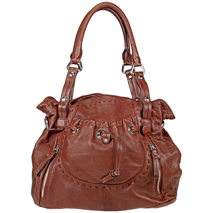 Open Box - B Makowsky Lisbon Brown Leather Tote BM6220-BR