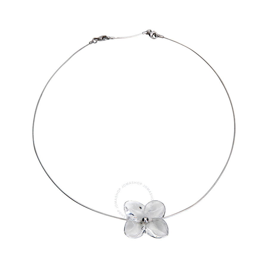Open Box - Baccarat Hortensia Crystal Flower Necklace 2105609