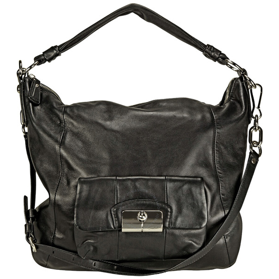 Open Box - Coach Kristin Black Leather Hobo Bag 14769BKBK