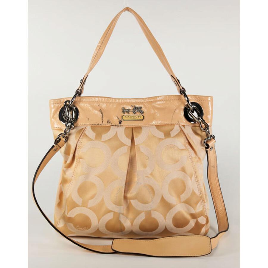 Open Box - Coach Orange Canvas Hippie Handbag 14579ORG