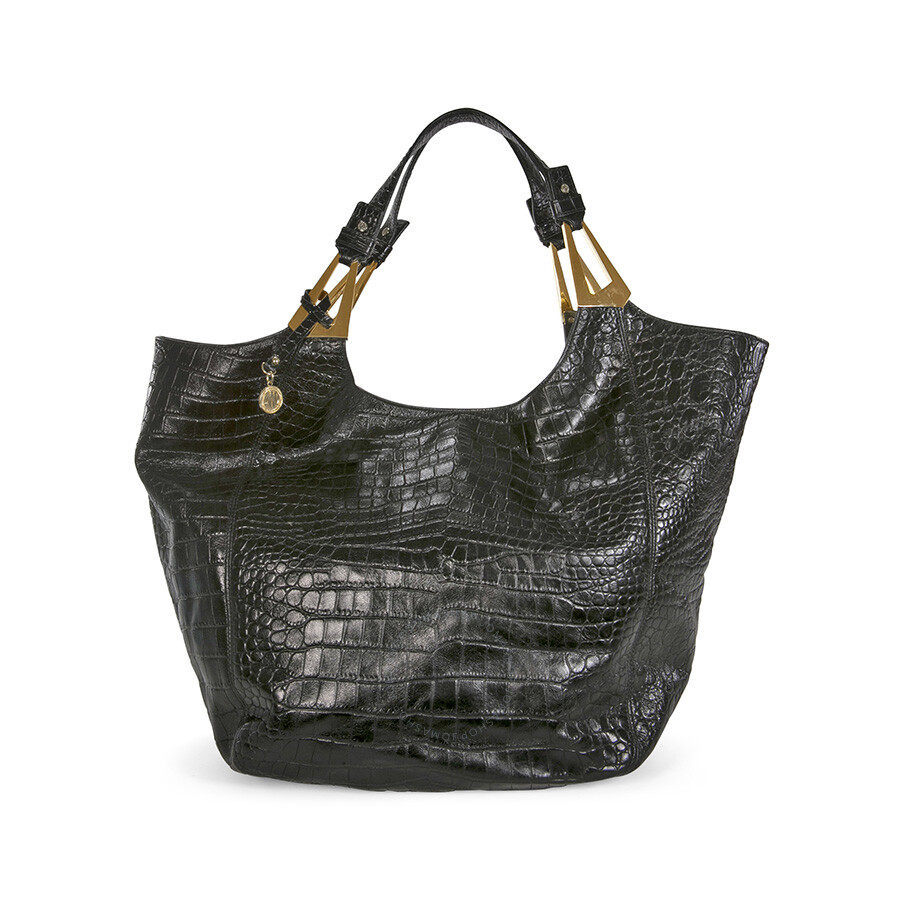 Open Box - DKNY Black Pebbled Leather Tote