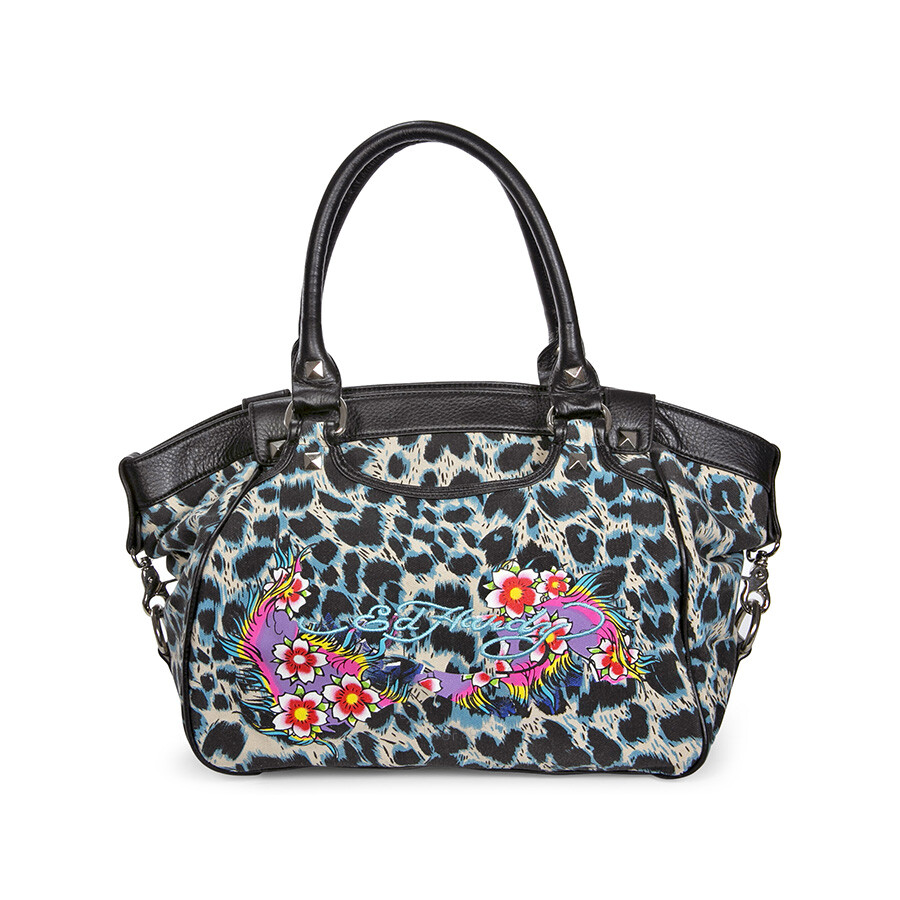 Open Box - Ed Hardy Ivy Swagger Tote EHRAIVY4104-BK
