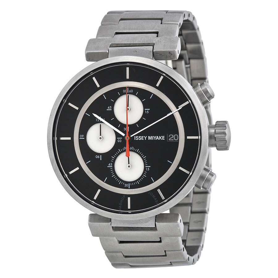 Open Box - Issey Miyake W Silver-tone Chronograph Mens Watch SILAY001