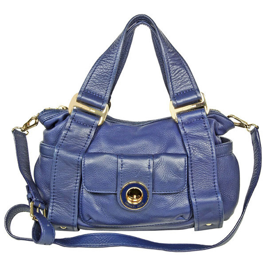 michael kors female 201933 open box michael kors dark blue leather shoulder satchel bag