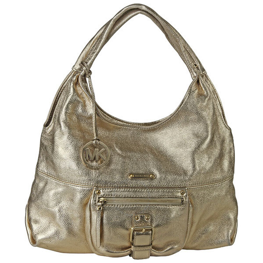 Open Box - Michael Kors Gold Leather Shoulder Tote MK30H91ANT7M-GL