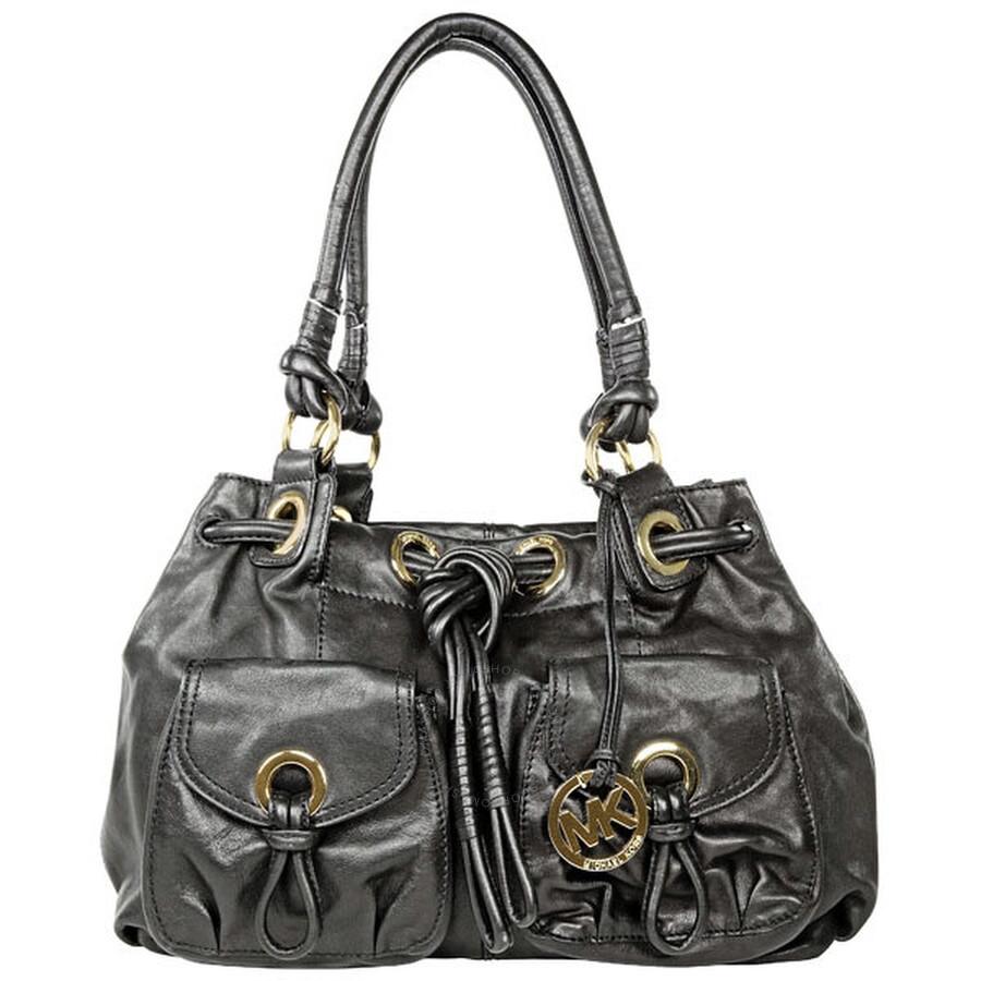 Open Box - Michael Kors Greenport Large Black Leather Tote