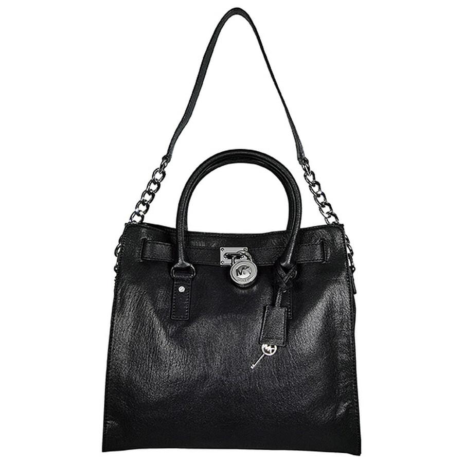 Open Box - Michael Kors Hamilton Large Tote Bag in Black