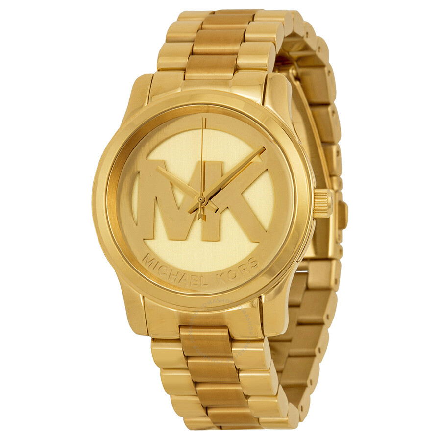 Open Box - Michael Kors Parker Champagne Dial Gold-tone Watch MK5786