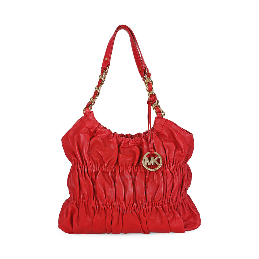 Open Box - Michael Kors Webster Red Leather Tote