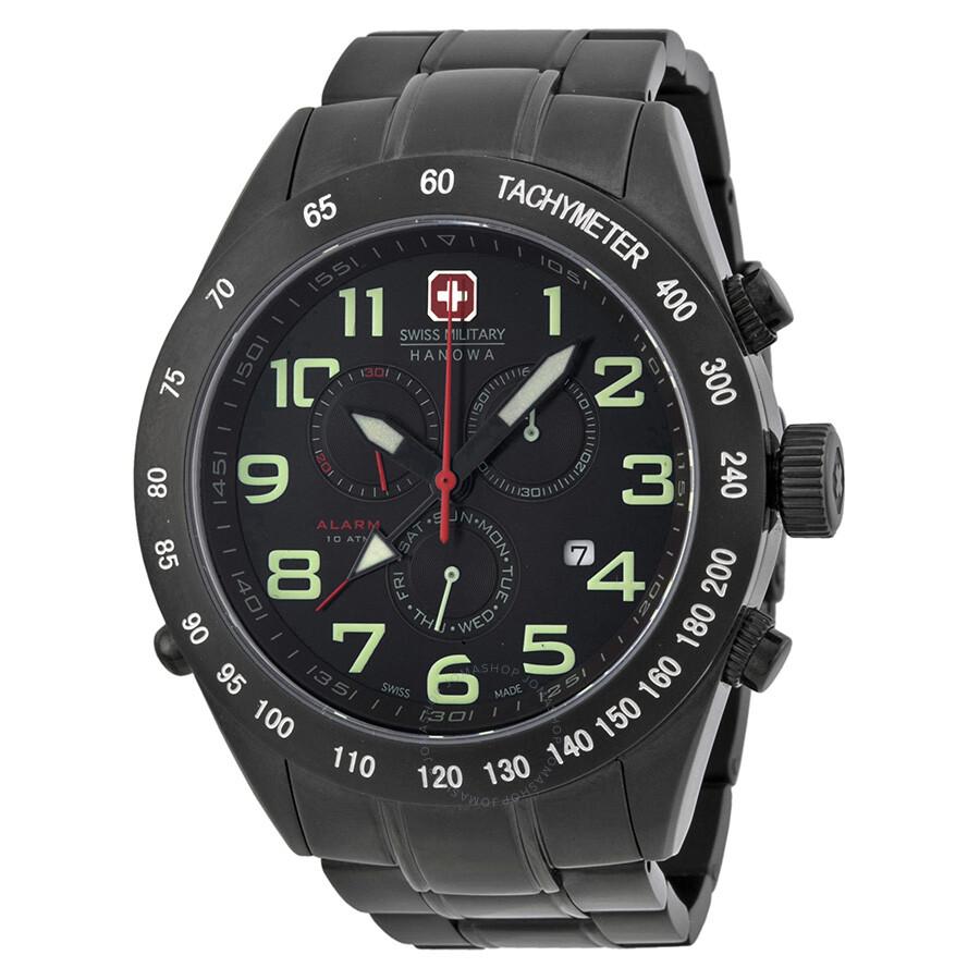 Open Box - Swiss Military Night Rider II Alarm Mens Watch 06-5150-13-007