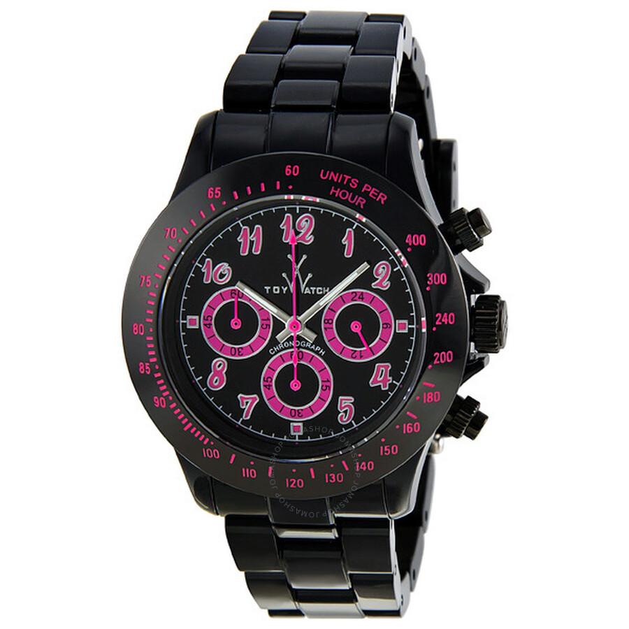 Open Box - Toy Watch Flash Chronograph Black Plasteramic Unisex Watch TB01