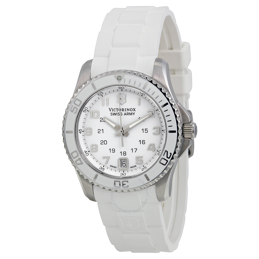 Open Box - Victorinox Swiss Army Maverick Mother of Pearl Dial Ladies Watch 241492