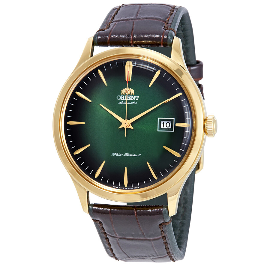 Orient Bambino Version 4 Automatic Green Dial Mens Watch FAC08002F0