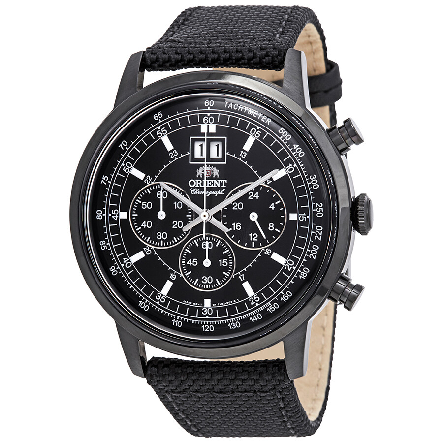 Orient Classic Chronograph Black Dial Mens Watch FTV02001B0