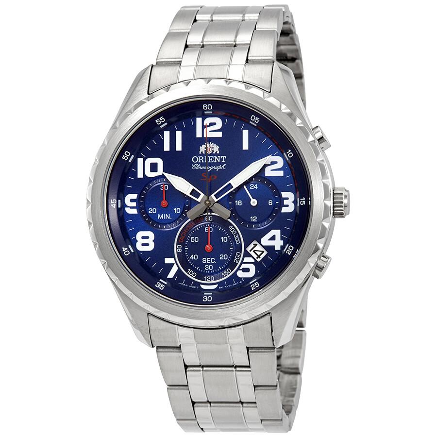 Orient Sport Chronograph Blue Dial Men's Watch FKV01002D ...
