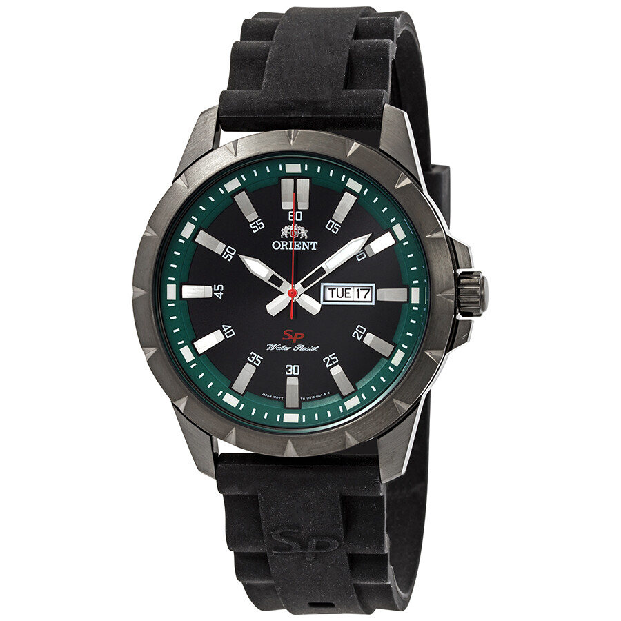 Orient Sporty Black Dial Mens Watch FUG1X00AB