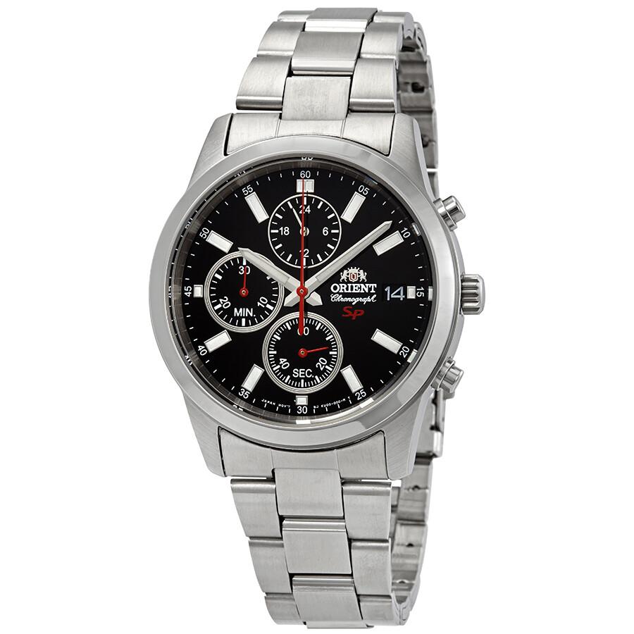 Orient Sporty Chronograph Black Dial Men's Watch FKU00002B ...