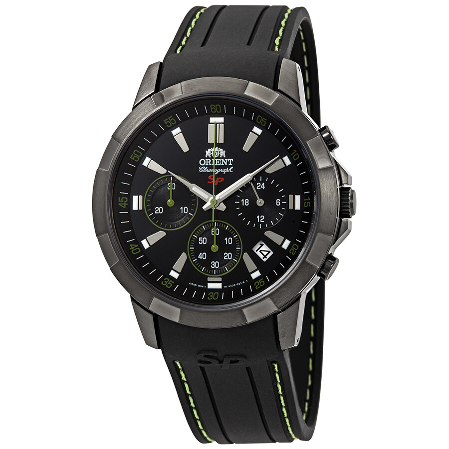 Orient Sporty Chronograph Black Dial Mens Watch FKV00006B