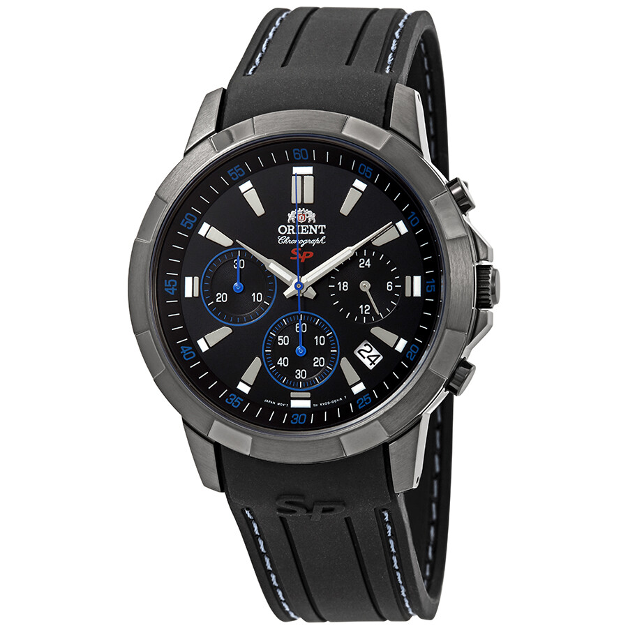 Orient Sporty Chronograph Black Dial Mens Watch FKV00007B