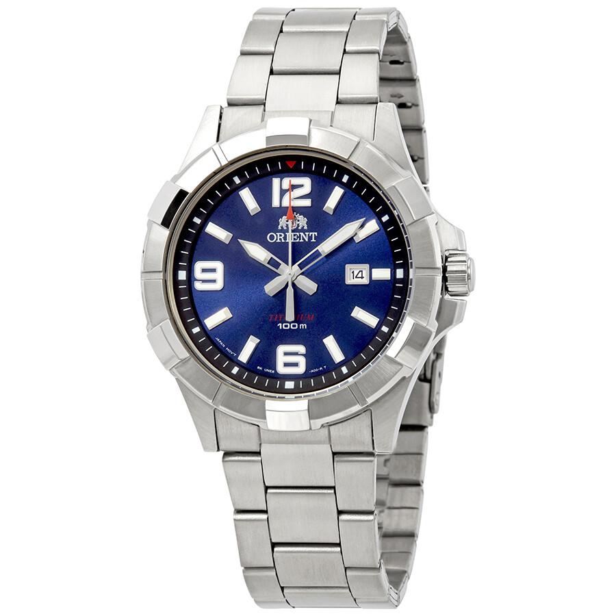Orient Titanium Blue Dial Mens Watch FUNE6001D