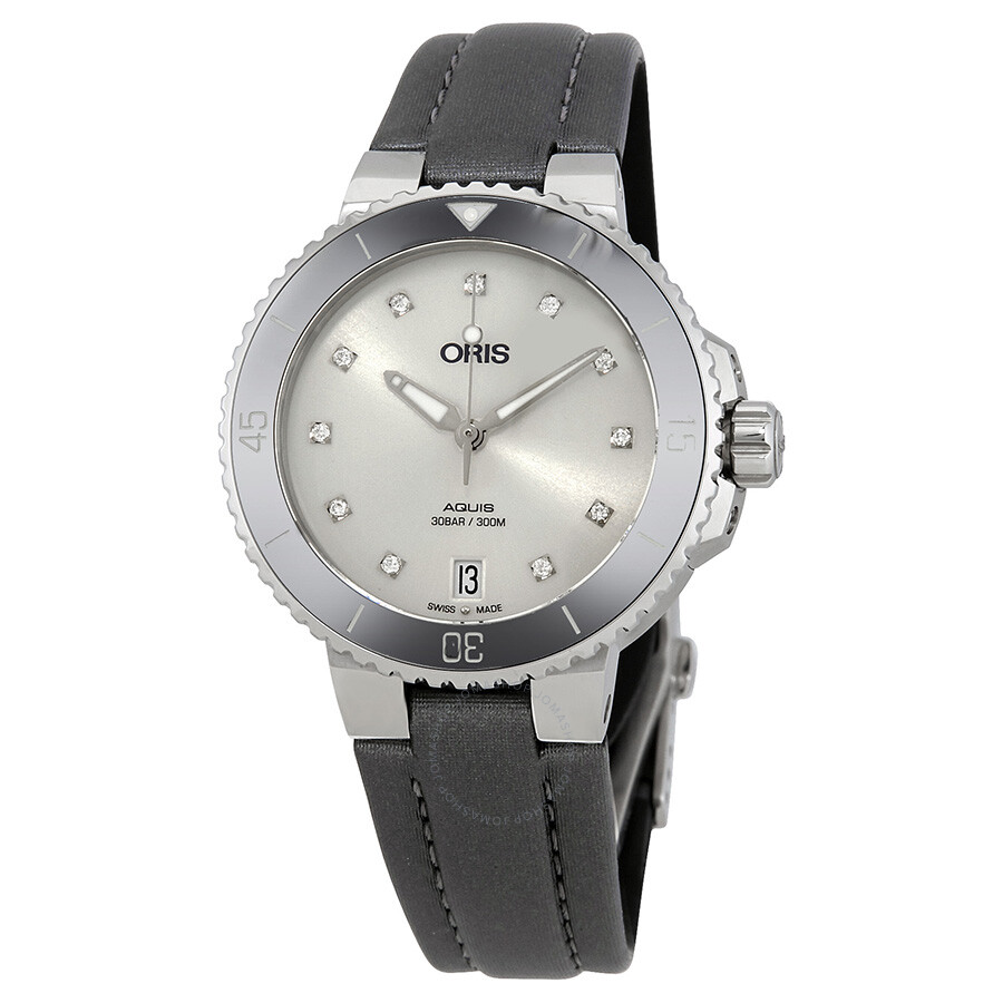 Oris aquis date diamond dial automatic ladies watch 733 7731 4191rs aquis oris watches for Diamond dial watch