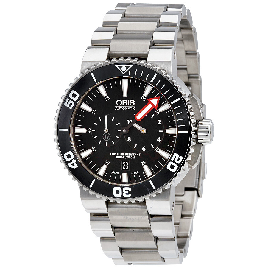 Oris Aquis Regulateur Der Meistertaucher Black Dial Mens Watch 749-7677-7154MB