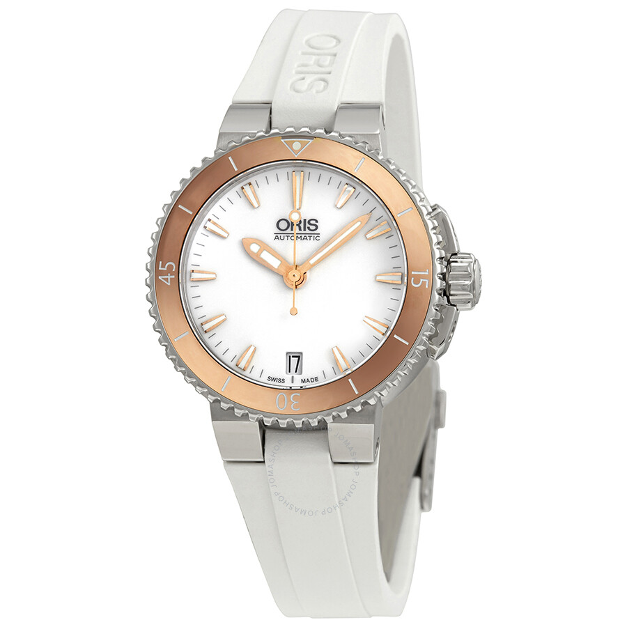 Oris Aquis White Dial Automatic Unisex Watch 01 733 7652 4356-07 4 18 31