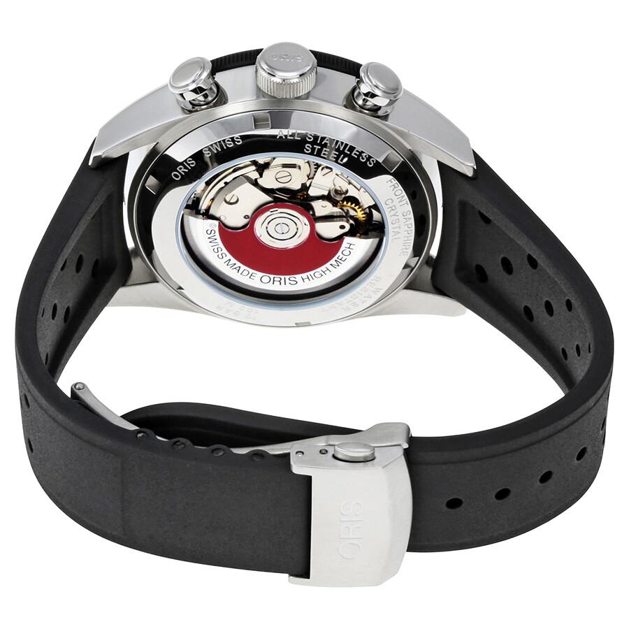 ... Oris Artix GT Black Dial Automatic Men's Chronograph Rubber Watch 01  774 7661 4424-07