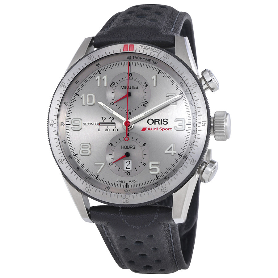 Oris Audi Sport Limited Edition Silver Dial Mens Watch 774-7661-7481LS