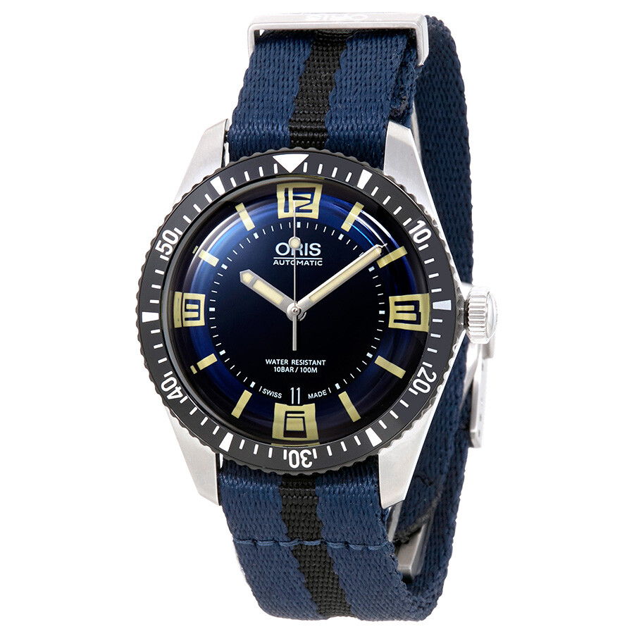 Oris divers blue dial automatic men 39 s watch 01 733 7707 4035 07 5 20 29fc divers oris for Oris watches