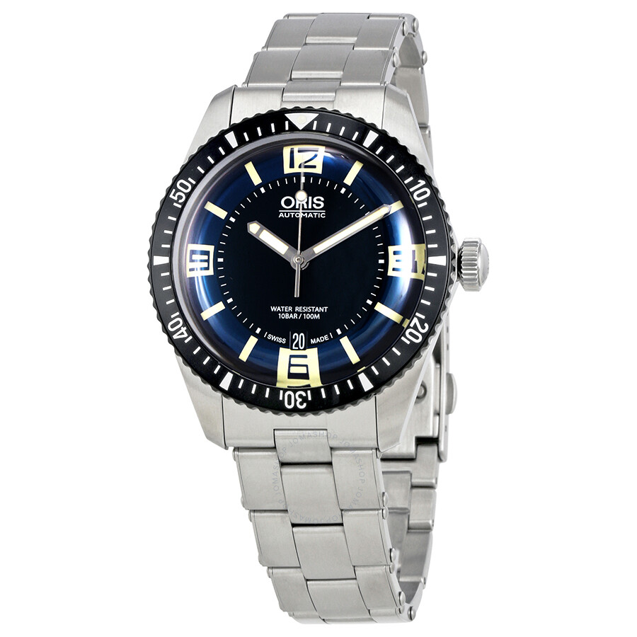 oris male oris divers sixtyfive automatic mens watch 73377074035mb
