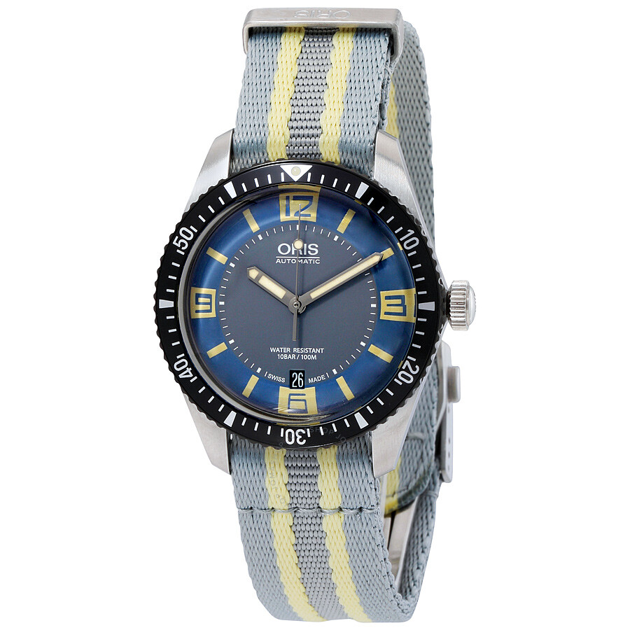 oris male oris divers sixty five automatic mens watch 73377074065lblfs