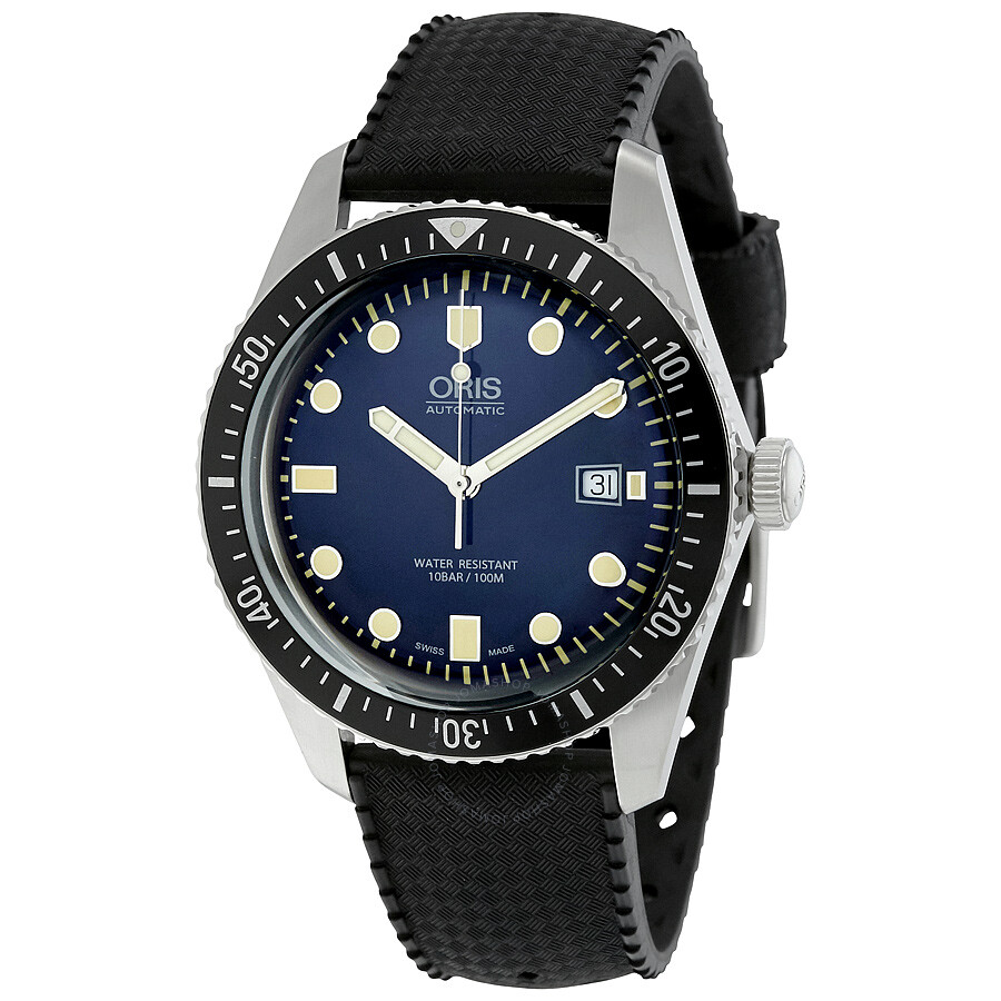 five blue dial watch s sixty oris automatic men watches divers