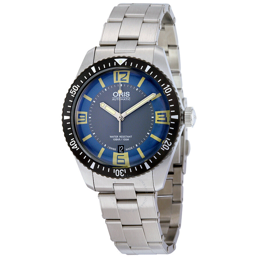 oris male oris divers sixtyfive automatic mens watch 73377074065mb