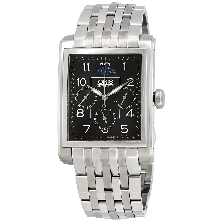 men watches amazon bulova corporate dp strap com watch dial rectangular s black collection