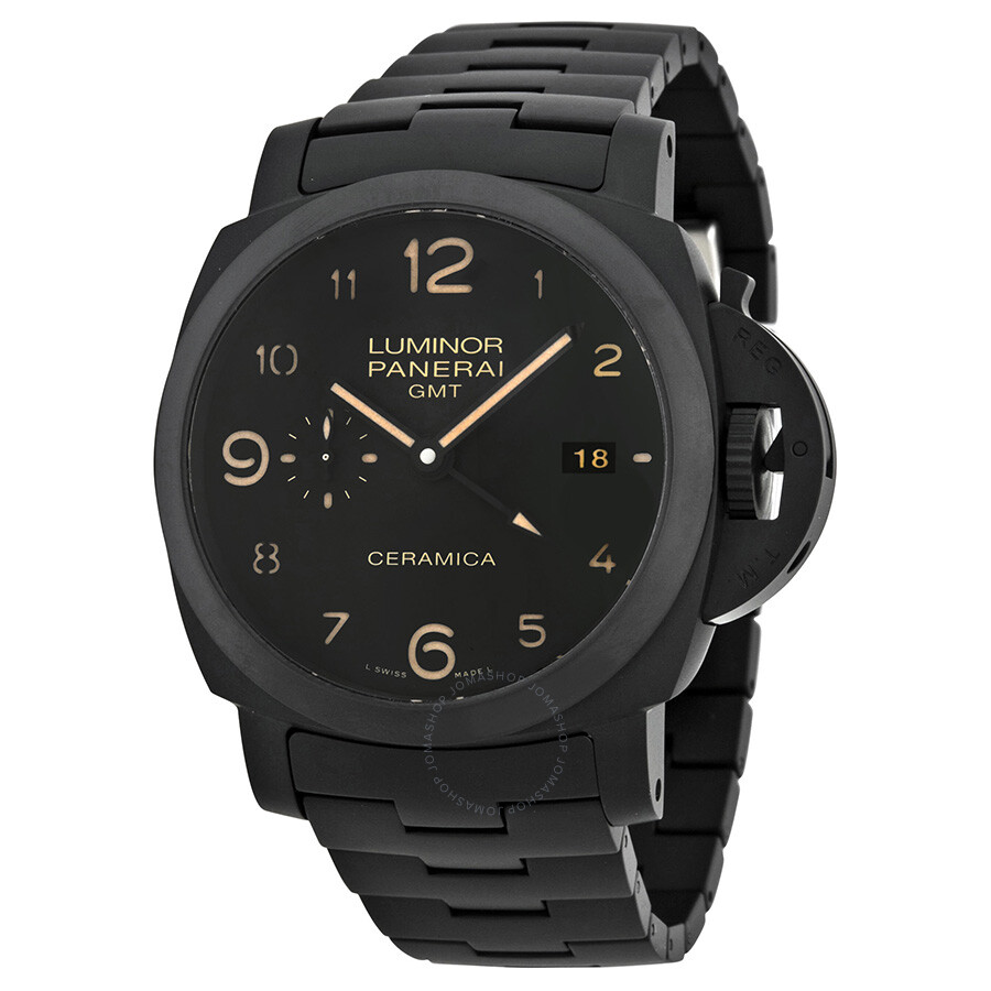 ceramic dial watches watch main pam in panerai essential days on strap submersible black leather with luminor