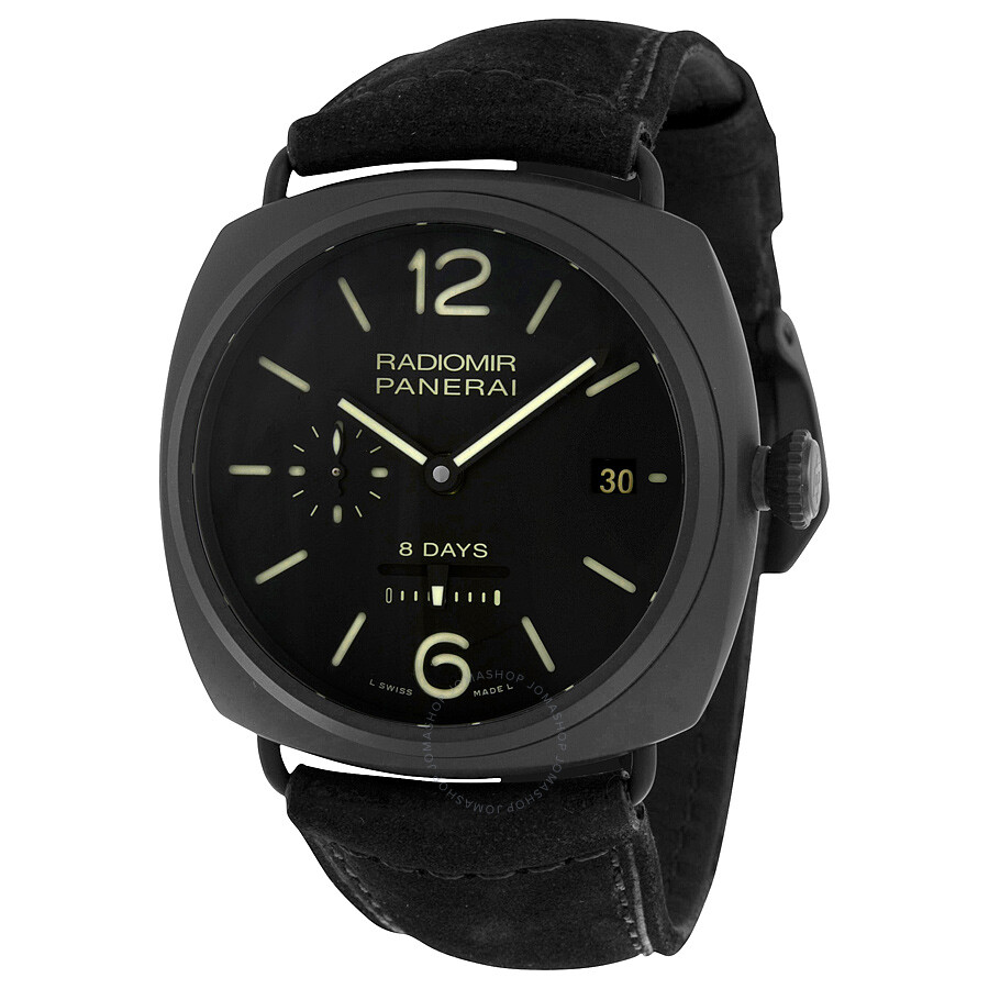watch ceramic black watches s gmt panerai tuttonero luminor dial men