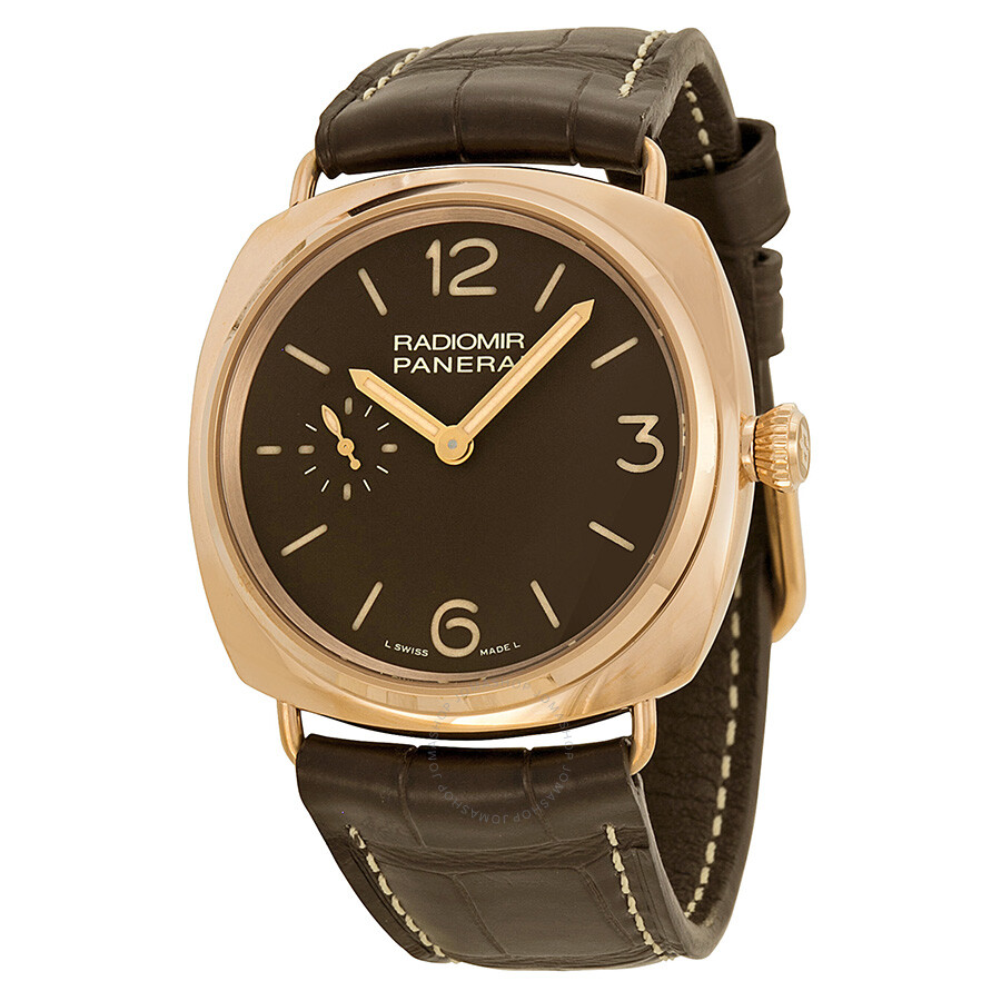 panerai radiomir oro rosso manual wind brown dial 18 kt rose gold rh jomashop com Military Wind Up Watch Best Wind Up Watches