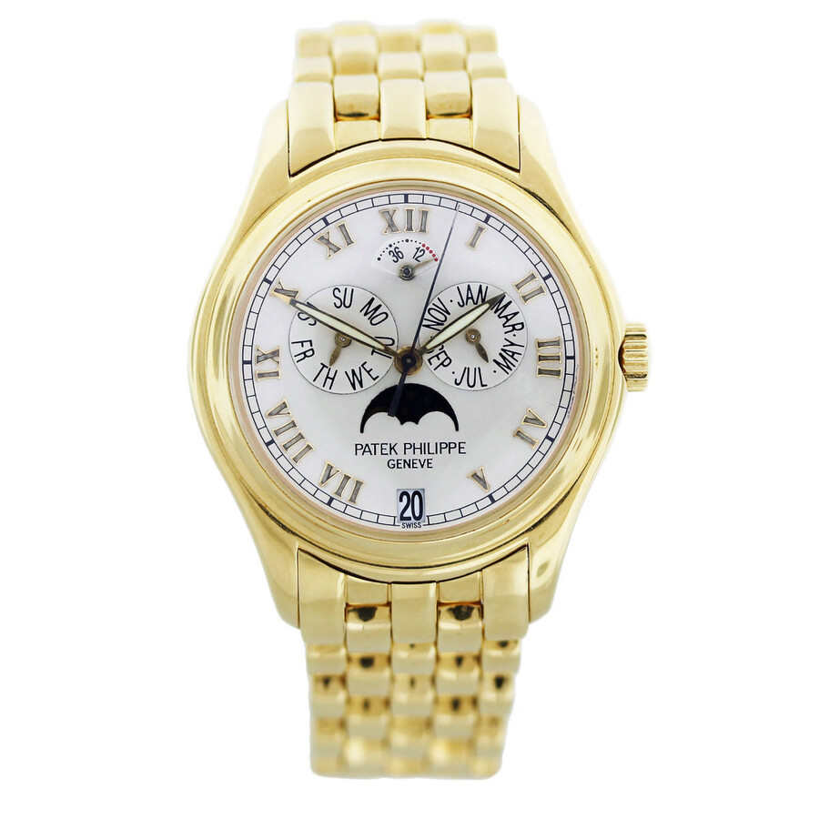 Patek Philippe Annual Calendar Moonphase White Dial Gold Stainless Steel Automatic Unisex Watch 5036