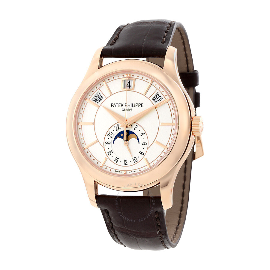 annual dial patek main watch date italian calendar philippe discontinued gold watches salmon white wheel